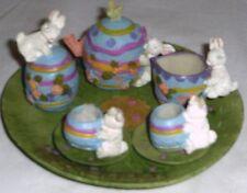 New Easter Themed Mini Tea Set Barbie Miniature Playset