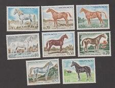 Timbres de Monaco neufs** Chevaux de sang - Série N° 831 à 838 -TB - 1970