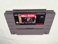 Bulls vs Blazers and the NBA Playoffs (Super Nintendo SNES) Game Cartridge Exc!