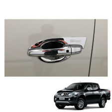 Mitsubishi Pickup L200 Triton 2015 16 17 fit Door Handle Bowl Cover Chrome 4Door