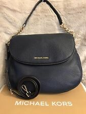 NWT MICHAEL KORS BEDFORD LARGE TASSEL CONV. SHOULDER BAG IN NAVY (SALE!!)