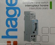Temporizador mecanico Hager Eh011 con reserva 200h interruptor horario DIN