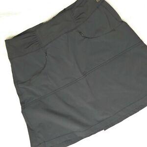 Athleta Size 6 Hit The Trail Skort Skirt Gray 405141 Active Short Sport