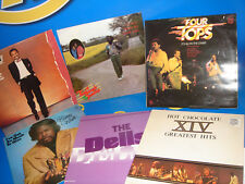 Lote 6 vinilos LPs discos -Four Tops/ The Dells/ Hot Chocolate/ Barry White...