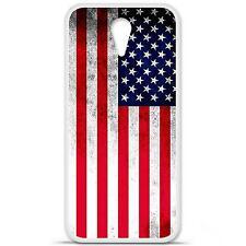 Coque housse étui tpu gel motif drapeau USA HTC Desire 610