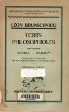 ÉCRITS PHILOSOPHIQUES T. 3 [SIENCE - RELIGION] PAR LÉON BRUNSCHVICG AUX PUF 1958