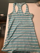 Lululemon Cool Racerback Blue Stripes Size 4