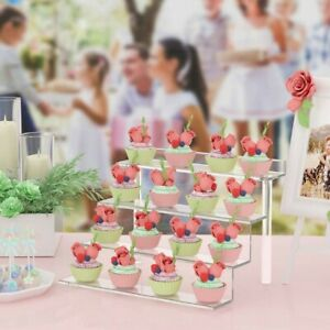 Clear Acrylic Display Stand Ladder Holder Multi-Use Cosmetics Rack Elements New