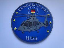 PVC- Aufnäher Helicopter Bundespolizei  H155 mit  Klett . ca 10 cm