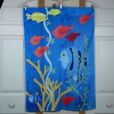 "Fish House Flag Underwater Coral Sea Life Tropical 28"" x 40""  Summer BreezeArt"