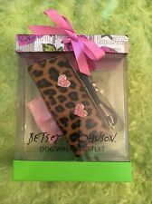 Betsey Johnson Leopard Dog Accessories Walk Wristlet Waste Poo Bags Refillable