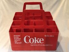 Two Vintage 16 Ounce Coke Bottle Holders...Each holds 8 bottles...Look!!!!!!!!!!
