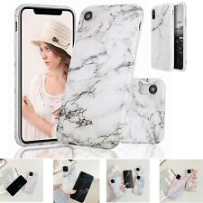 For Apple iPhone 11 Pro 7 8 XS XR Plus 6S  Shockproof TPU Marble Gel Case Cover