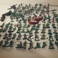 Vintage Army Men Lot Of 120+ 2 Vehicles Different Eras & Colors