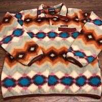Patagonia Synchilla Snap T Fleece Pullover Womens M Southwestern Aztec Print