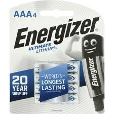Energizer  AAA Ultimate Lithium 4 pack lasts up to 20 years longer  New & Sealed
