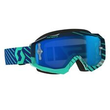 MASCHERA MASCHERINA MX CROSS SCOTT MX GOGGLE HUSTLE BLU TEAL SPECCHIO BLU