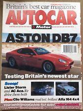 Autocar Magazine - 8 December 1993 - Aston DB7, Clio Williams, Alfa 164 Q4