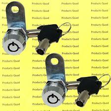 2 Keyed Alike Tubular Cam Lock 58 Rv Camper Drawer Toolbox Removable Key