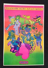 Vintage Peter Max Psychedelic Pop Art Poster - Life Is So Beautiful