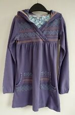 🦋FAT FACE 🦋 *4-5 YRS* Purple Hooded Cotton Dress -P&P Inc