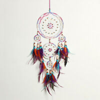 Handmade Feather Dream Catcher Circular Wall Interior Home Hanging Decoration S8