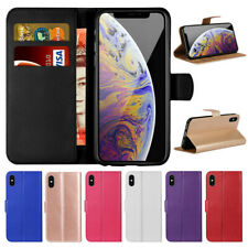 Flip Stand PU Leather Wallet Phone Case Cover for iPhone 4s 5S 6 7 8 XR XS Max