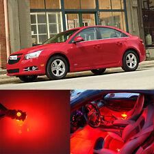 10Pcs Red SMD LED Interior Lights Package For 2010 - 2014 Chevrolet Cruz
