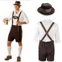 UK - Men's German Bavarian Beer Guy Oktoberfest Lederhosen Fancy Dress Costumes