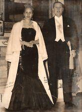 """EVA """"Evita"""" PERON & JUAN DOMINGO PERON >HANDSIGNED by BOTH 1950< UNUSUAL"""