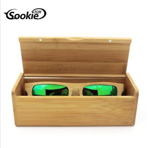 Men Women Retro Handmade Bamboo Wood Sunglasses Box Frame Glasses Case Hot Sale