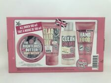 Soap And Glory Clean Getaway Gift Set 4 Mini Best Sellers Inc Hand Food New