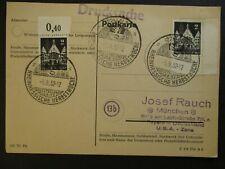 1952 Rheinhessische Herbstwoche to Bayern USA Zone Germany Postcard Cover