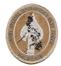 JOINT SPECIAL OPERATIONS TASK FORCE PHILIPPINES JSOTF-P vêlkrö SSI DD TAN PATCH