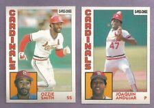 1984 OPC O-PEE-CHEE St. Louis Cardinals Team Set
