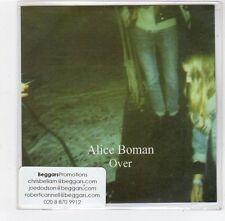 (FE397) Alice Boman, Over - 2014 DJ CD