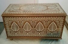 Handmade Rosewood Indian Inlaid Wooden Chest