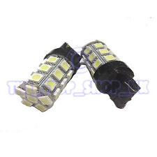 2x Replacement 27 LED T20 W21W Single Side Brake Tail 12v ICE White Bulbs