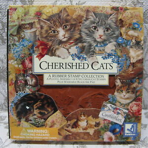 Cherished Cats 8 Victorian Cat Stamps Set Cynthia Hart Rubber Stampede Unused