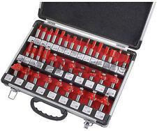 "35 Pieza TCT Punta Router Bit Set en caja de aluminio - 1/2"" Shank"