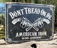 Man Cave Shadow Box Bar Desktop Wall Hanging 3 Dimensional LED Lighted Lamp Dont Tread On Me