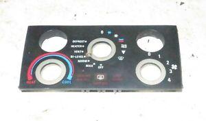 1982 Delorean DMC 12 OEM Climate Controls Fascia Plate Cover
