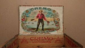 vintage Cremo Victorias American cigar factory box New York