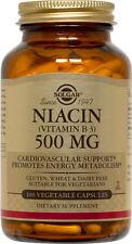 Solgar Niacin Vitamin B3 500mg 100 Vegetable Capsules