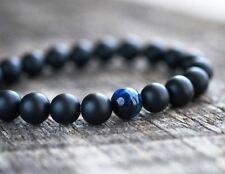 Pulsera para Hombre mujer moda artesanal piedra azul ojo de tigre Regalo de lujo