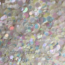 Mixed Nail Glitter Dots Gel/acrylic Nail art Rainbow 5g Bag Pearl Princess