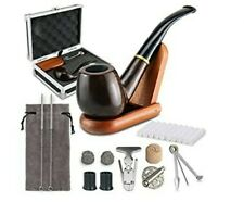 Tobacco Smoking Pipe Set with Case, Elegant Gift Case Packaging, Wind Cap Cover