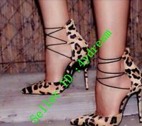 Sexy Women Stiletto Synthetic Leather Pointed Toe High Heels Party Shoes Leopard