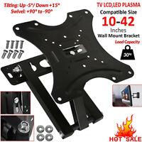 """Slim Tilt TV Wall Mount Bracket Stand Tilt Swivel 10""""-42"""" Inch 3D LCD LED Plasma"""