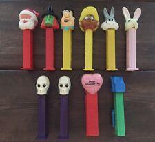 Assorted Vintage Pez Dispensers (10) Bugs Bunny Fievel Santa Flintstone